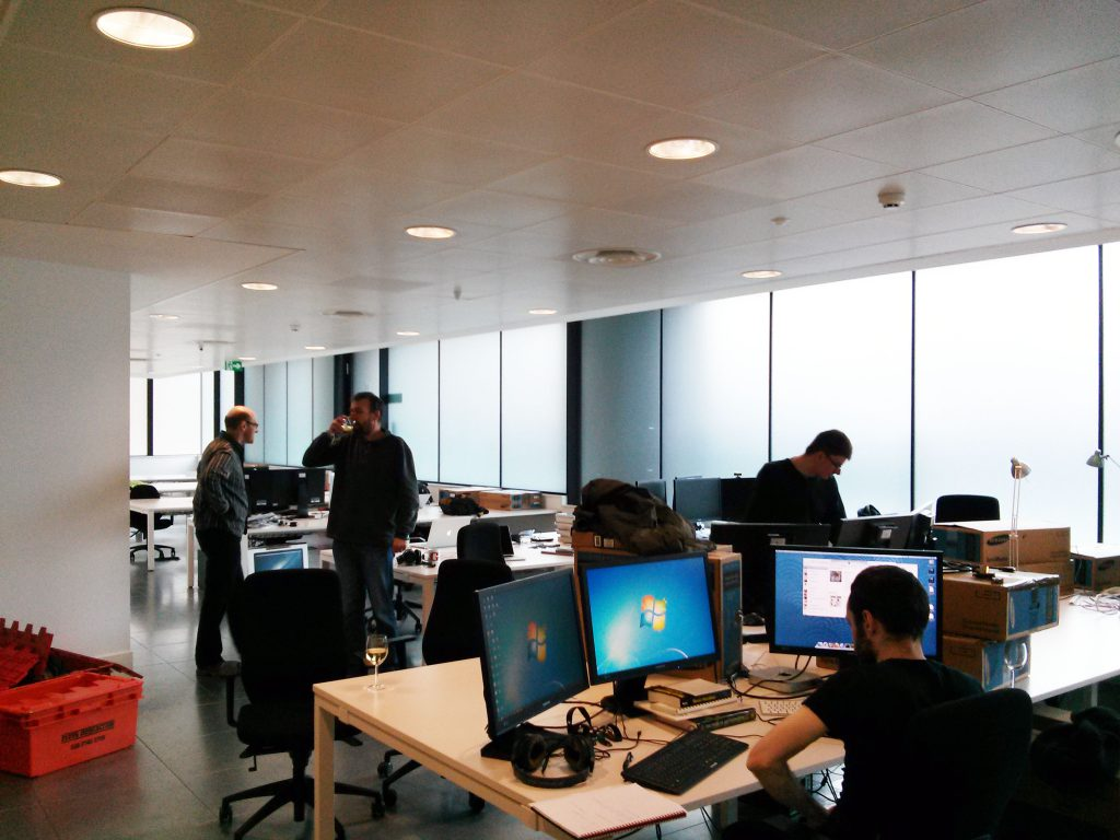 Settling in to our new office near Old Street.