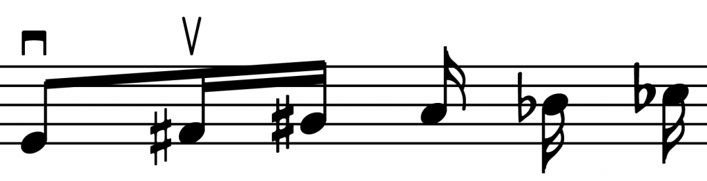 Scaled accidentals on the left, alternate glyphs on the right.